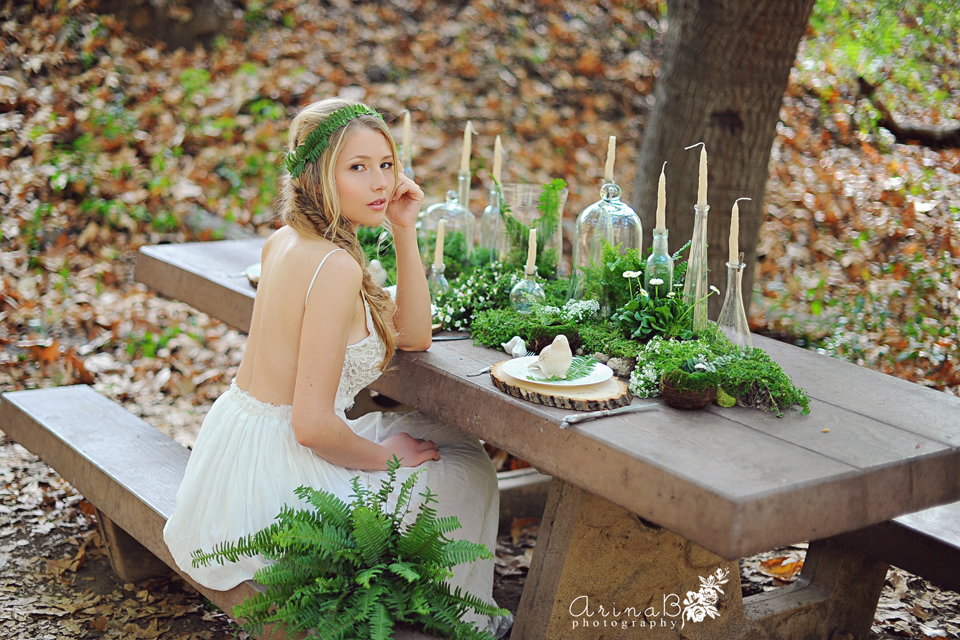 Beneath The Trees (forest Styled Bridal Session)