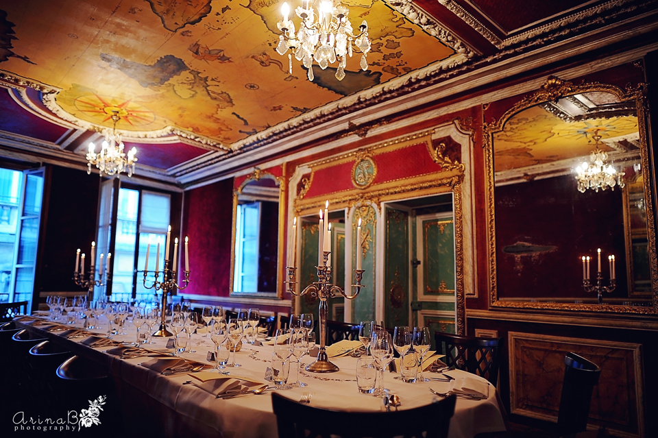 Under Parisian Sky Wedding In Paris France Restaurant Laperouse Arina B Photography