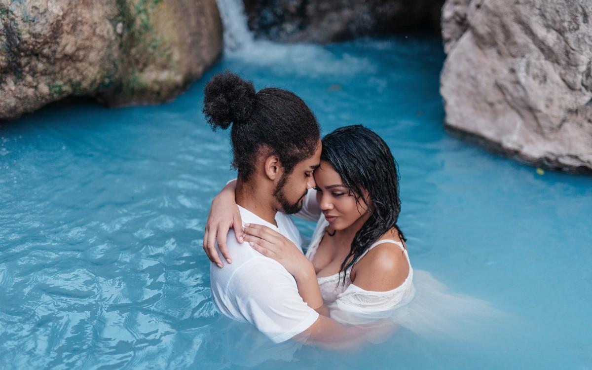Tessa + Micah Utah Hot springs