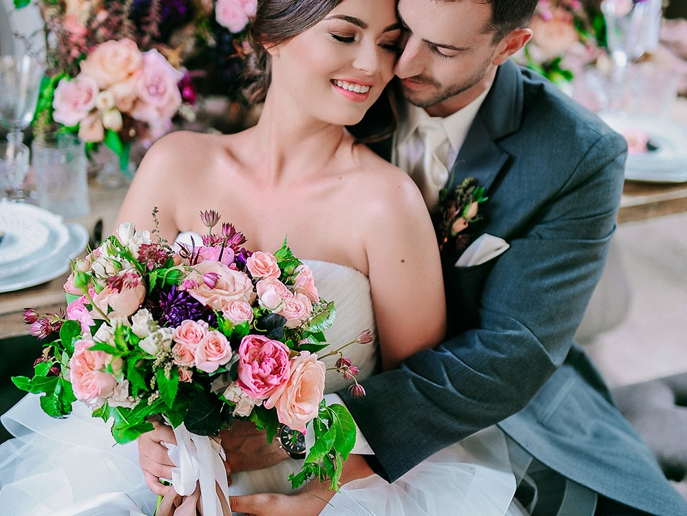 Styled wedding for San Diego Bridal Wedding Magazine